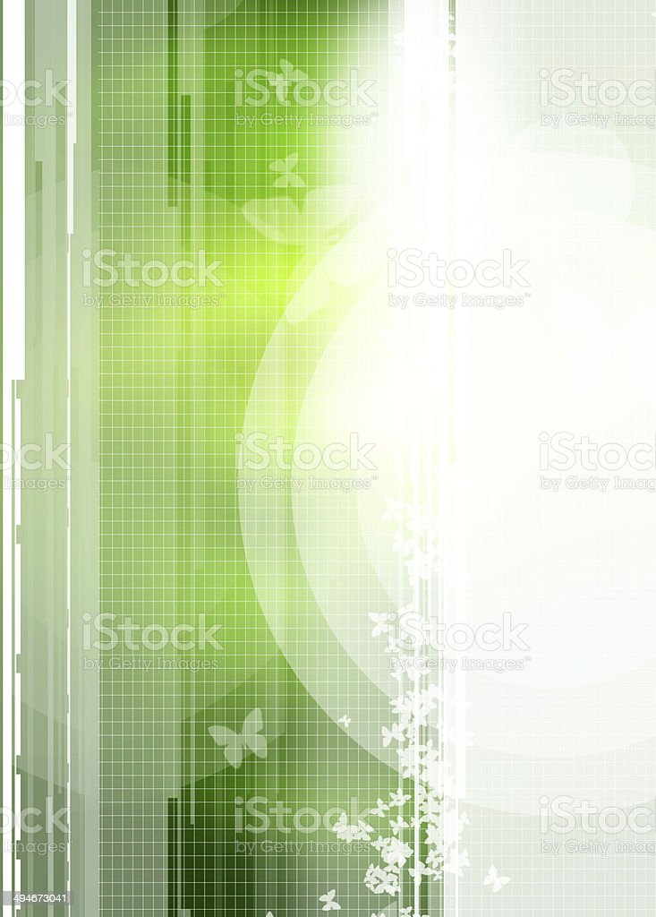Butterfly shapes and grid lines stock photo
