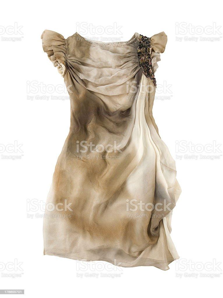 Butterfly sleeves tie dye dress stock photo