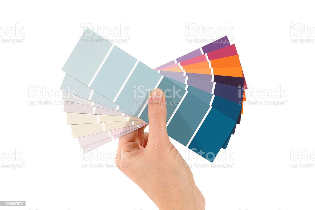 Butterfly swatches (path) royalty-free stock photo