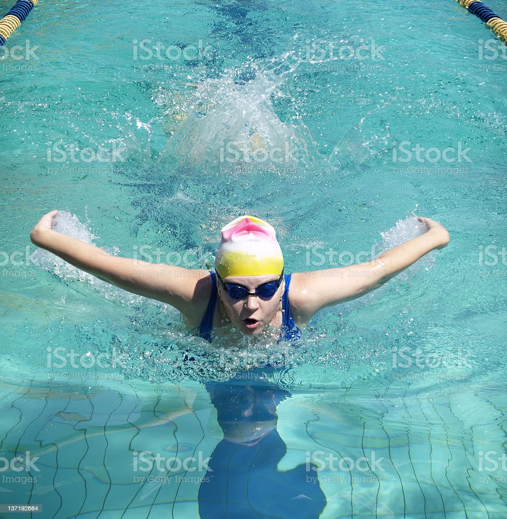 Butterfly swimmer royalty-free stock photo