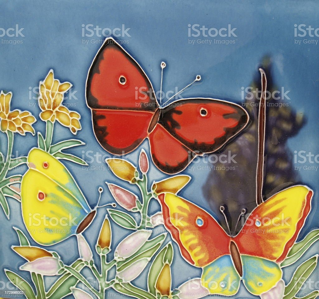 Butterfly Tile stock photo