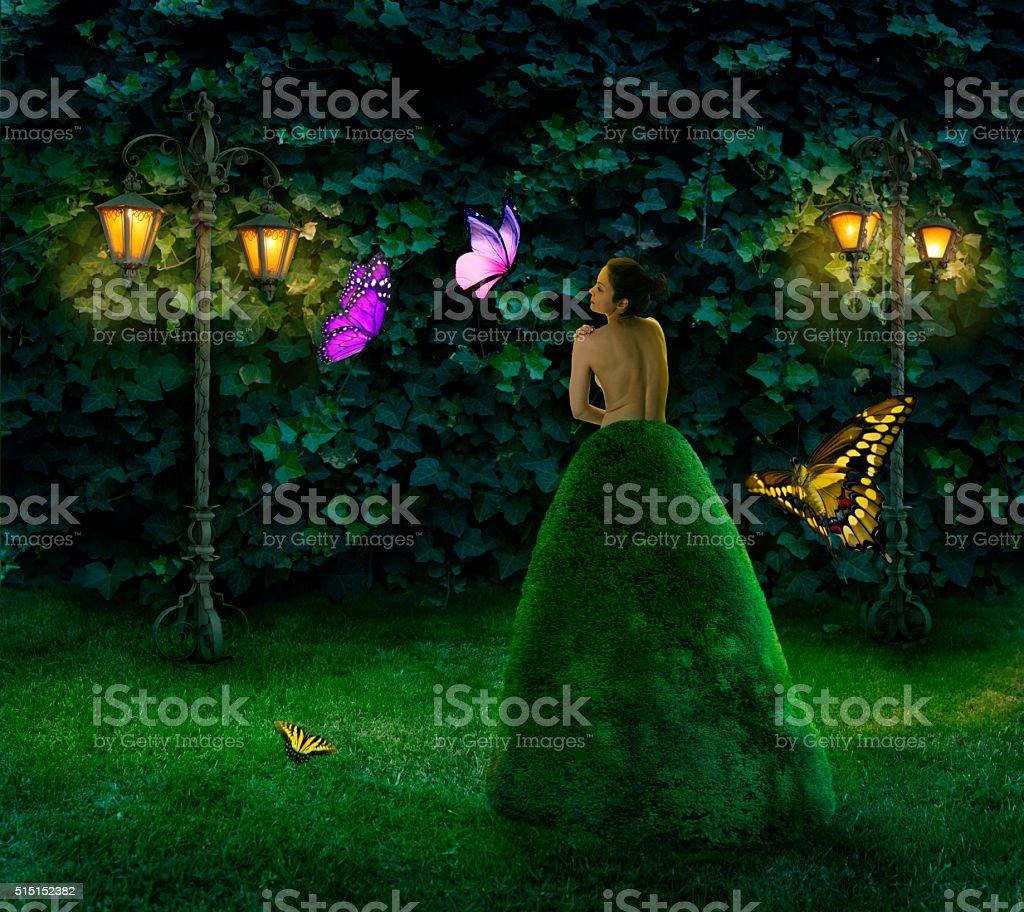 Butterfly whisperer stock photo