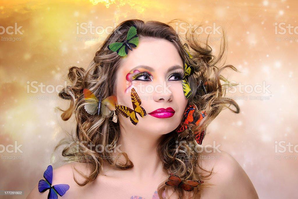 Papillon femme photo libre de droits