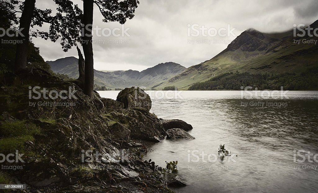 Buttermere Lakeside royalty-free stock photo