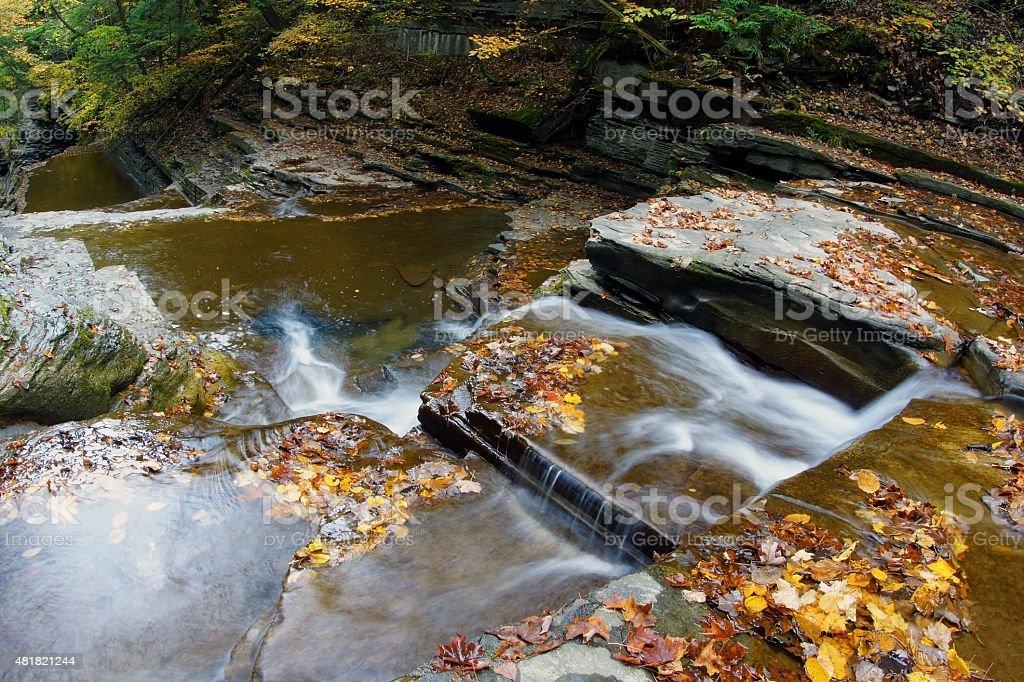 Buttermilk Falls State Park stock photo