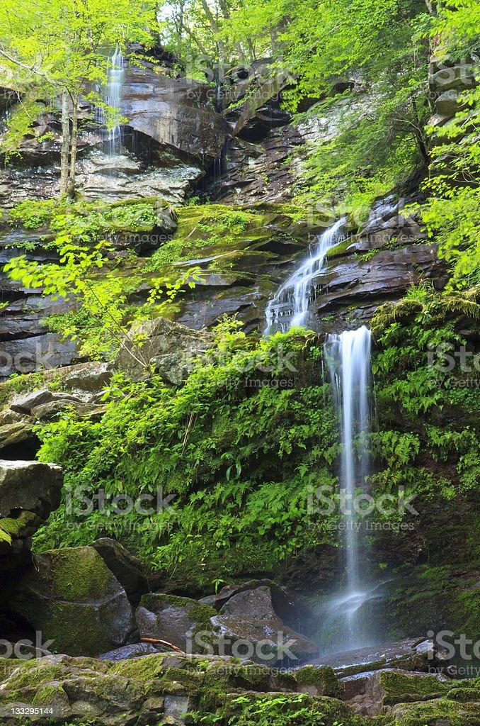 Buttermilk Falls Triple stock photo