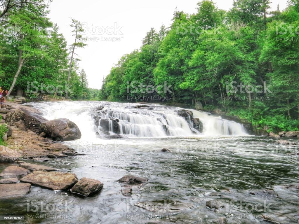 Buttermilk Falls Waterfall, Adirondack Park, Hamilton County, Long Lake, NY stock photo