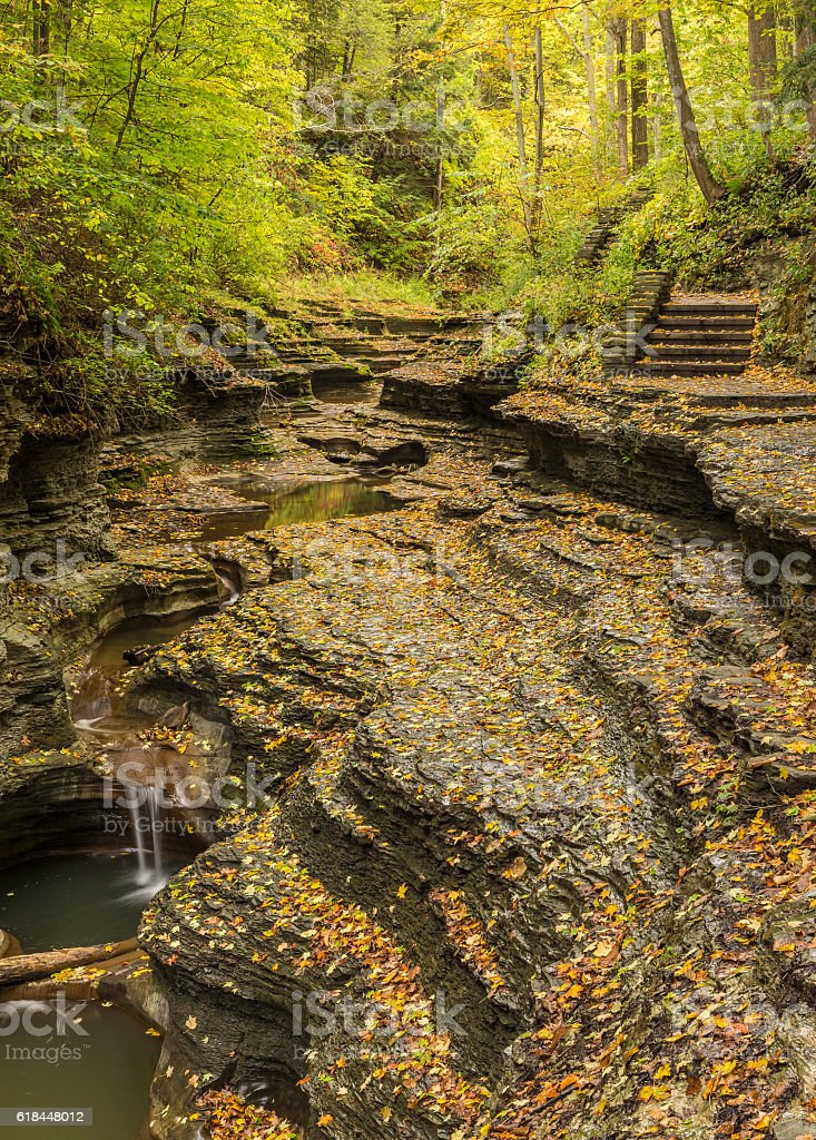 Buttermilk Gorge Autumn stock photo