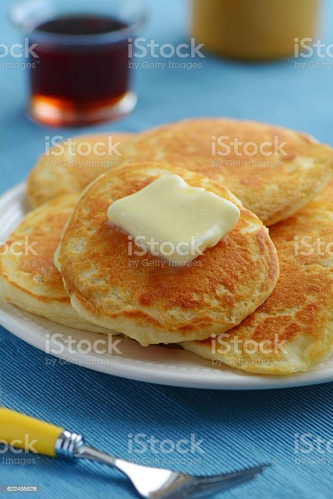 Buttermilk pancakes stock photo
