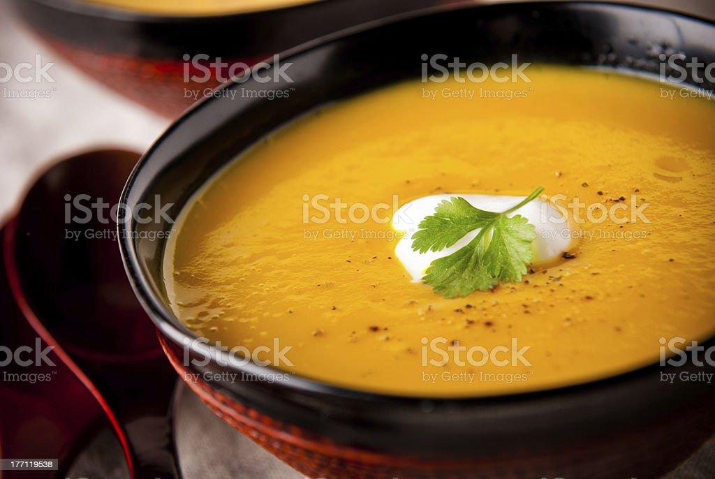 Butternut Pumpkin Soup stock photo