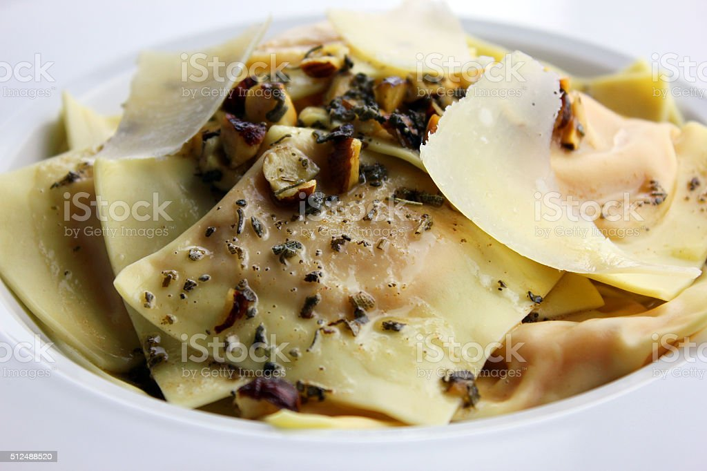 Butternut Squash Ravioli stock photo