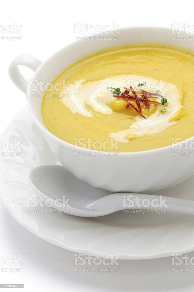butternuts squash soup stock photo