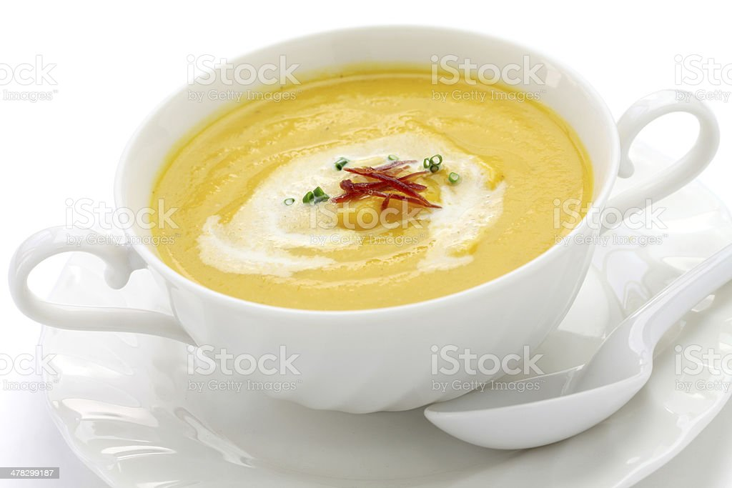 butternuts squash soup royalty-free stock photo