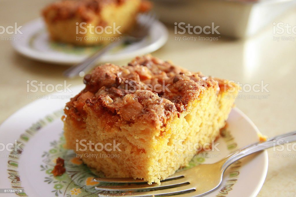 Butterscotch Cake from an Iowa Farm Kitchen stock photo
