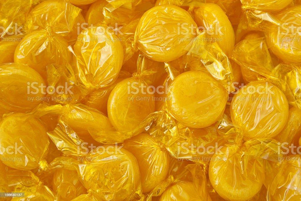 Butterscotch Candies stock photo