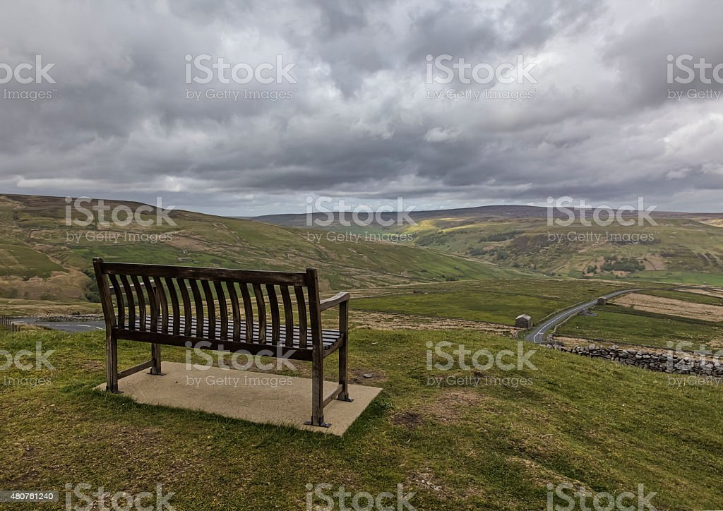 Buttertubs bench stock photo