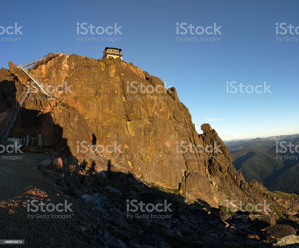 Buttes Summit and Lookout stock photo