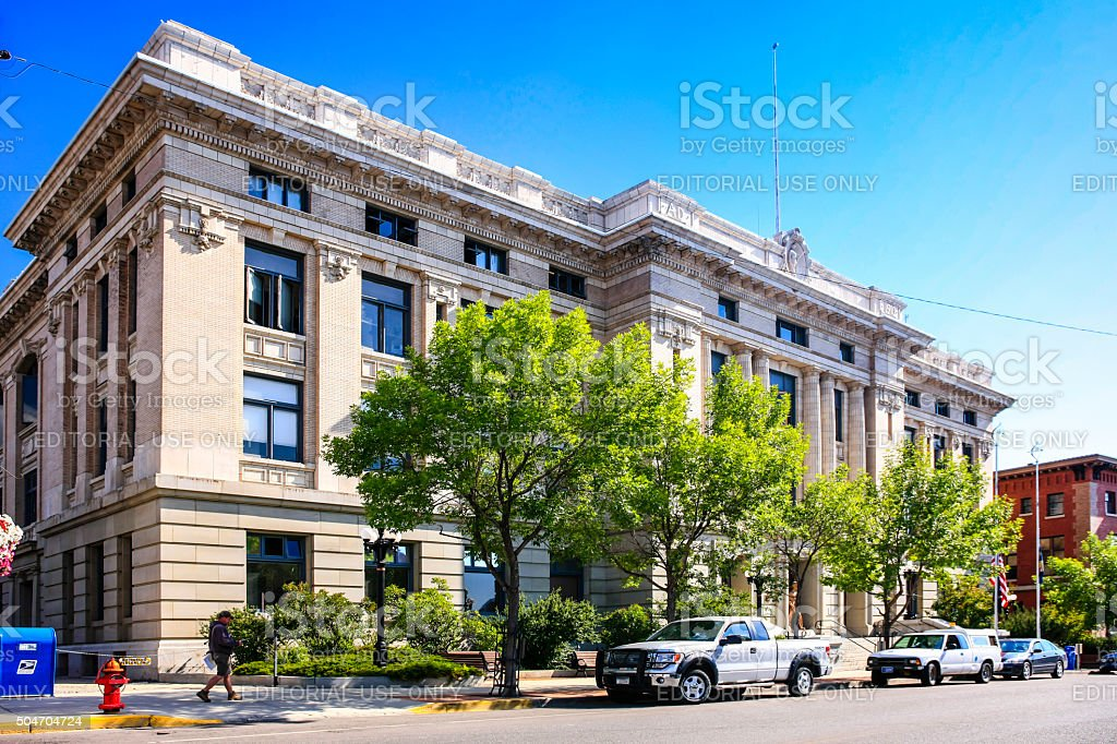 Butte-Silver Bow City-County city hall building in Butte Montana stock photo