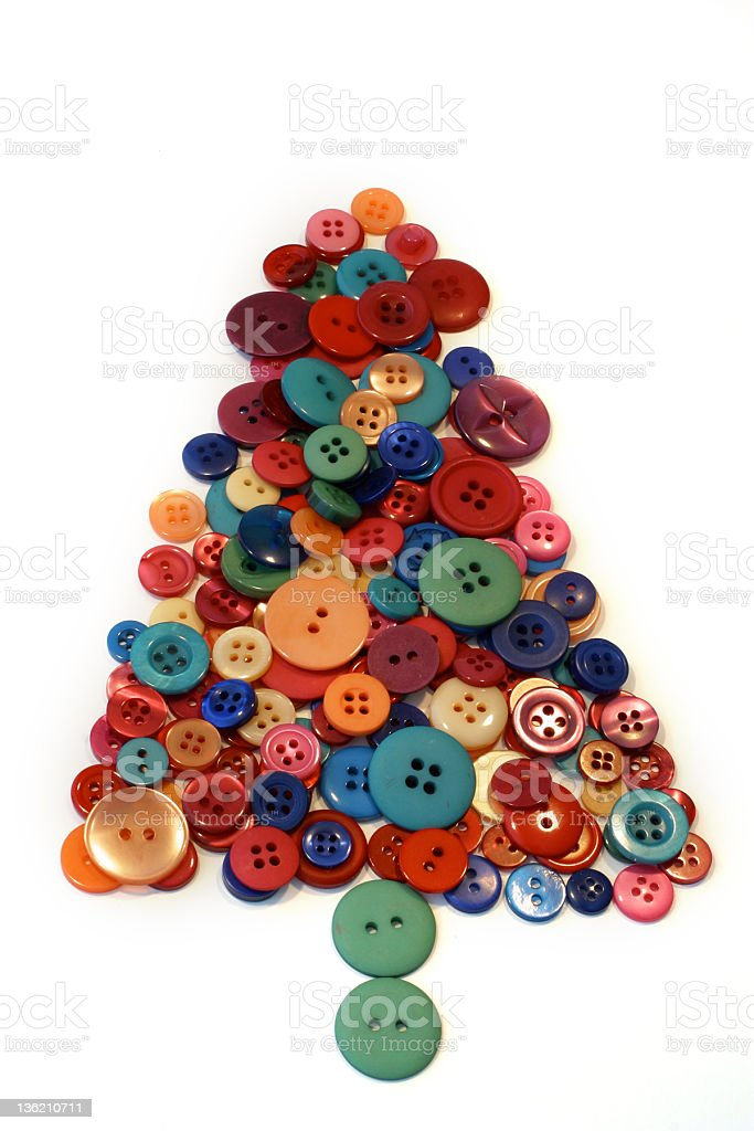 Button Christmas Tree stock photo