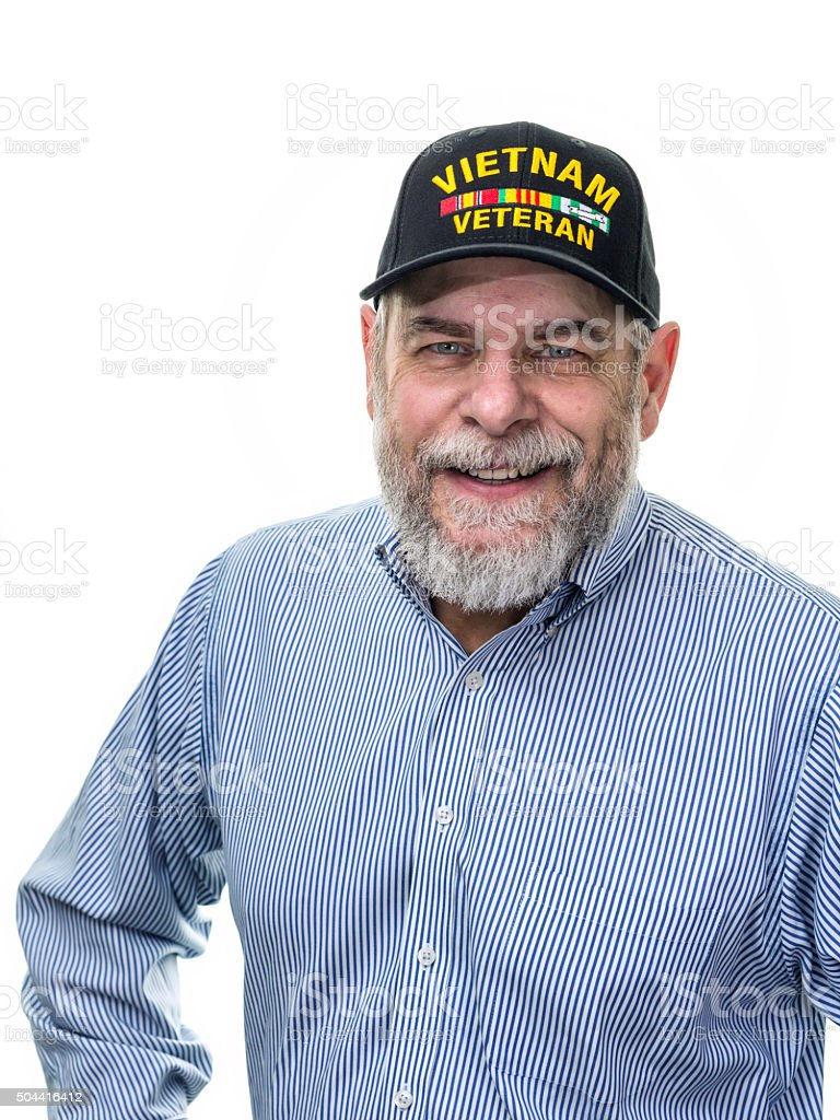 Button Down Shirt Vietnam War USA Military Veteran stock photo