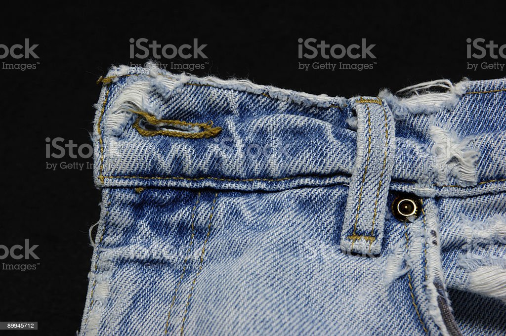button eye and belt loop stock photo