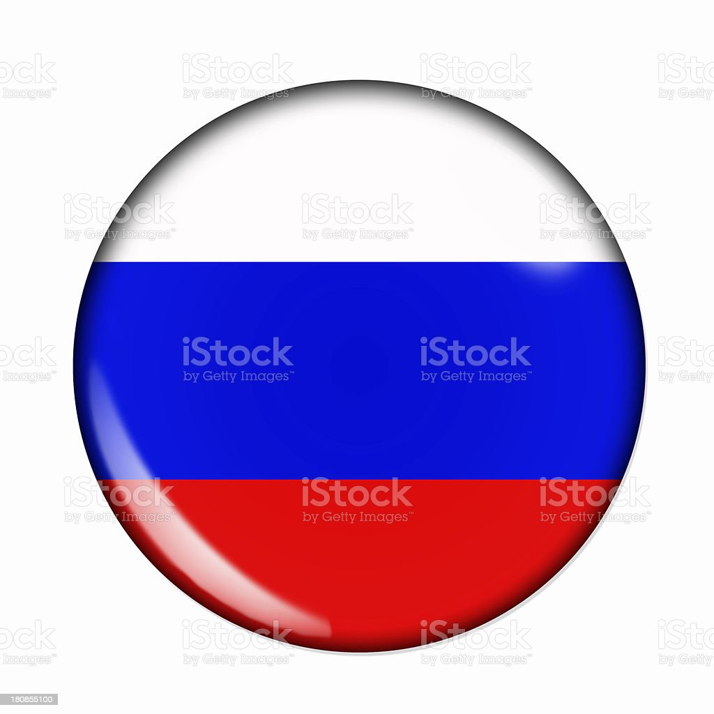 Button flag of Russia royalty-free stock photo