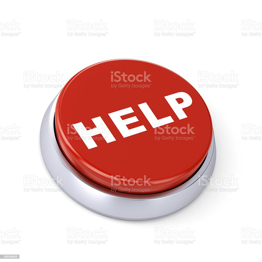 Button for a help call royalty-free stock photo