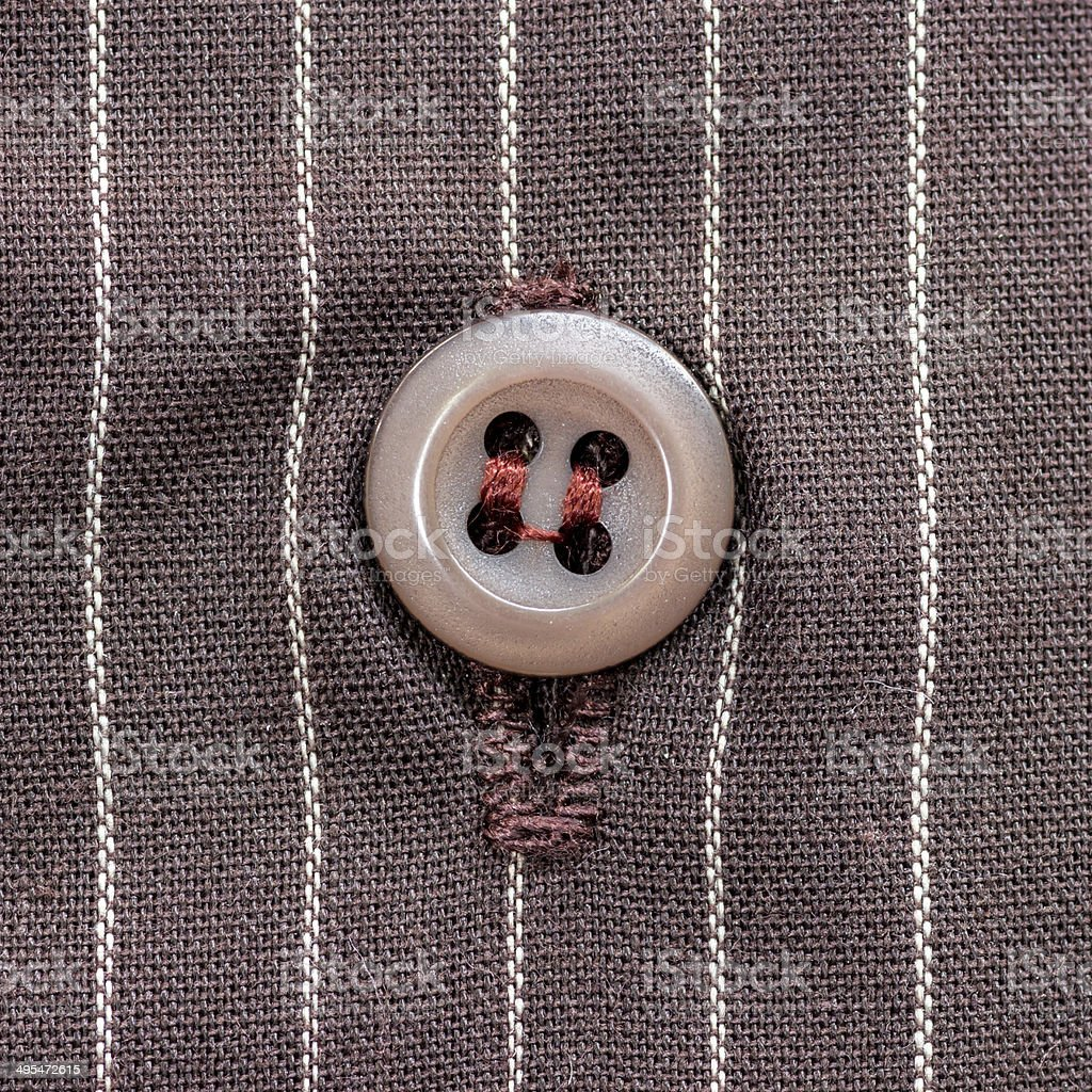 button from a shirt. stock photo