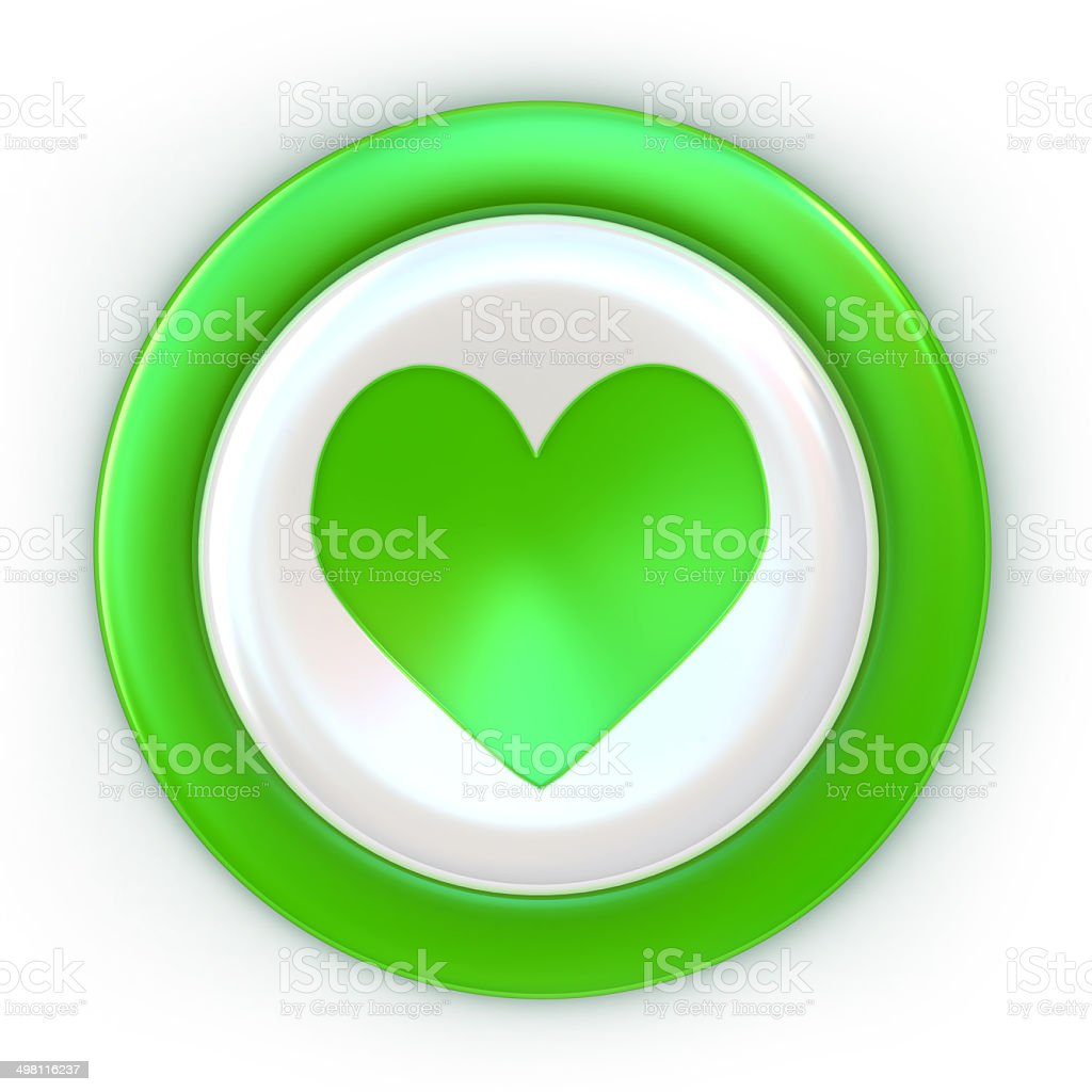 Button - Green Heart royalty-free stock photo