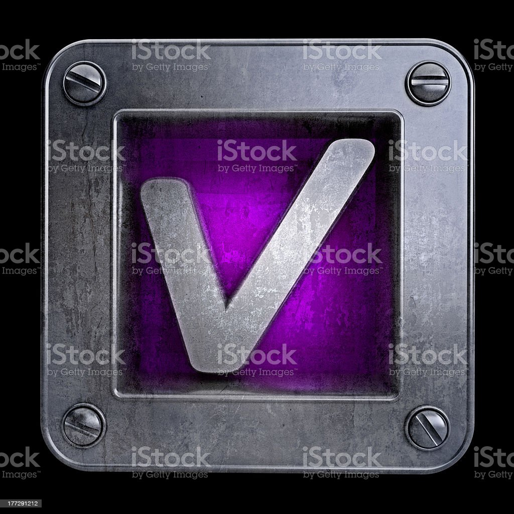 3D button icon with Tick symbol royalty-free stock photo