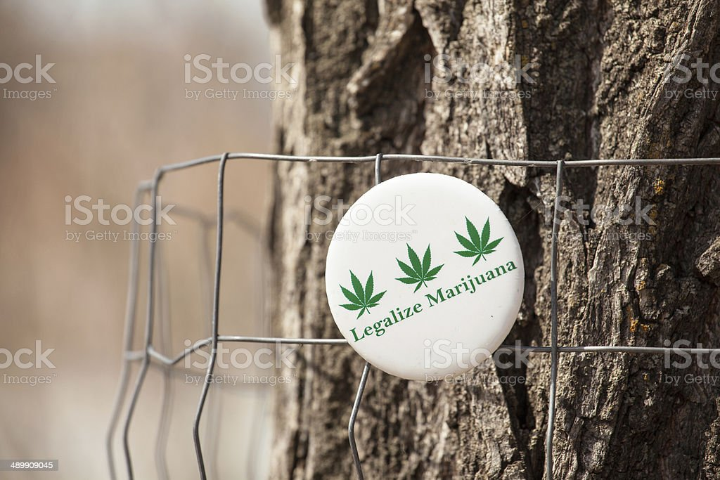 Button Legalize Marijuana stock photo