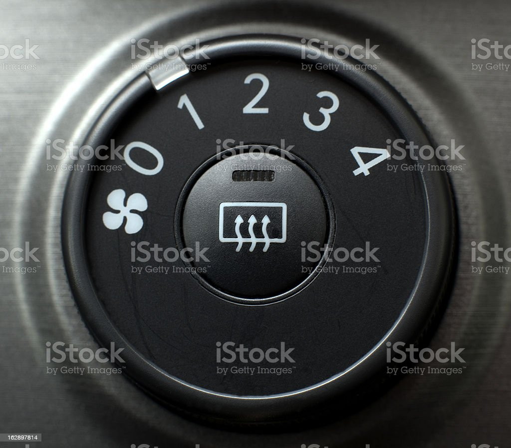 Button located in the car stock photo