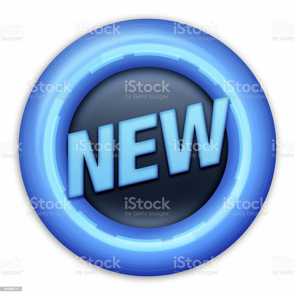 Button NEW royalty-free stock photo