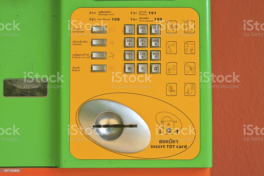 button number public telephone royalty-free stock photo