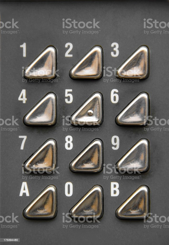 Button number set royalty-free stock photo