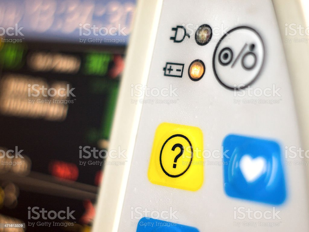 Button of help royalty-free stock photo