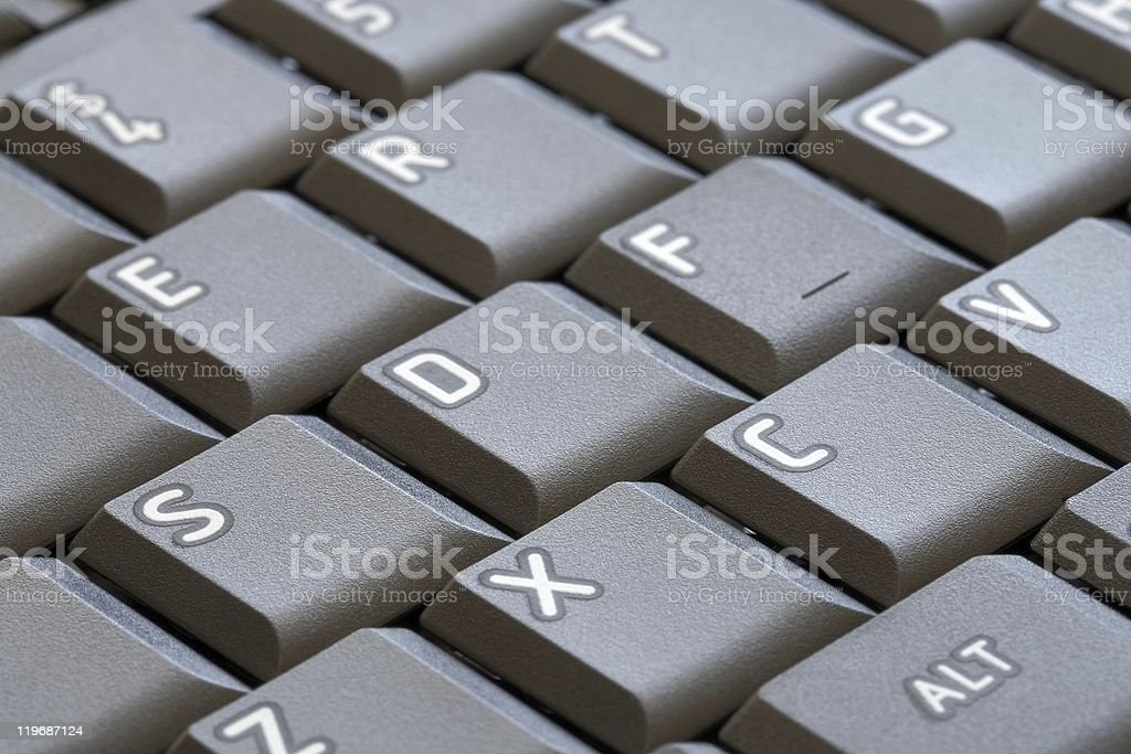 Button on computer keyboard stock photo