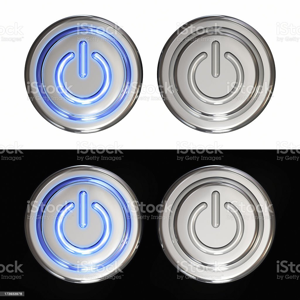 Button on off royalty-free stock photo