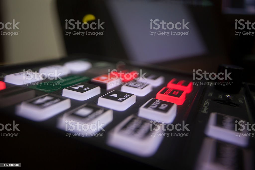 button on the control panel stock photo