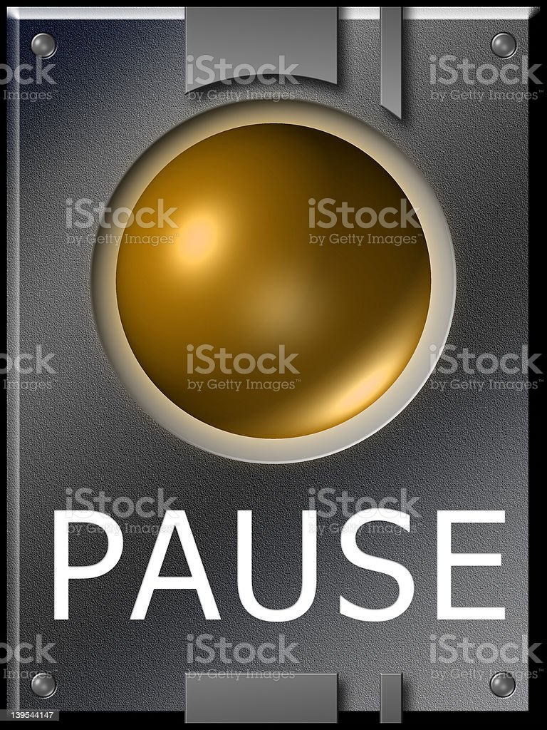 button pause royalty-free stock photo