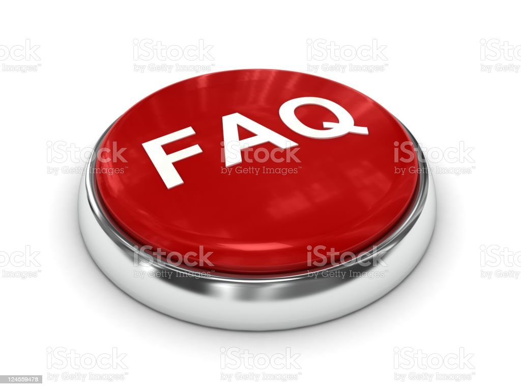 FAQ Button royalty-free stock photo
