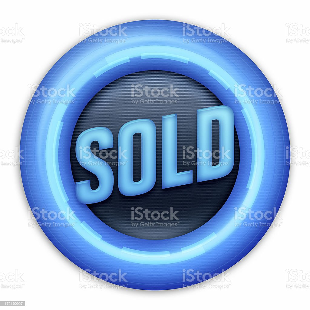 SOLD button royalty-free stock photo