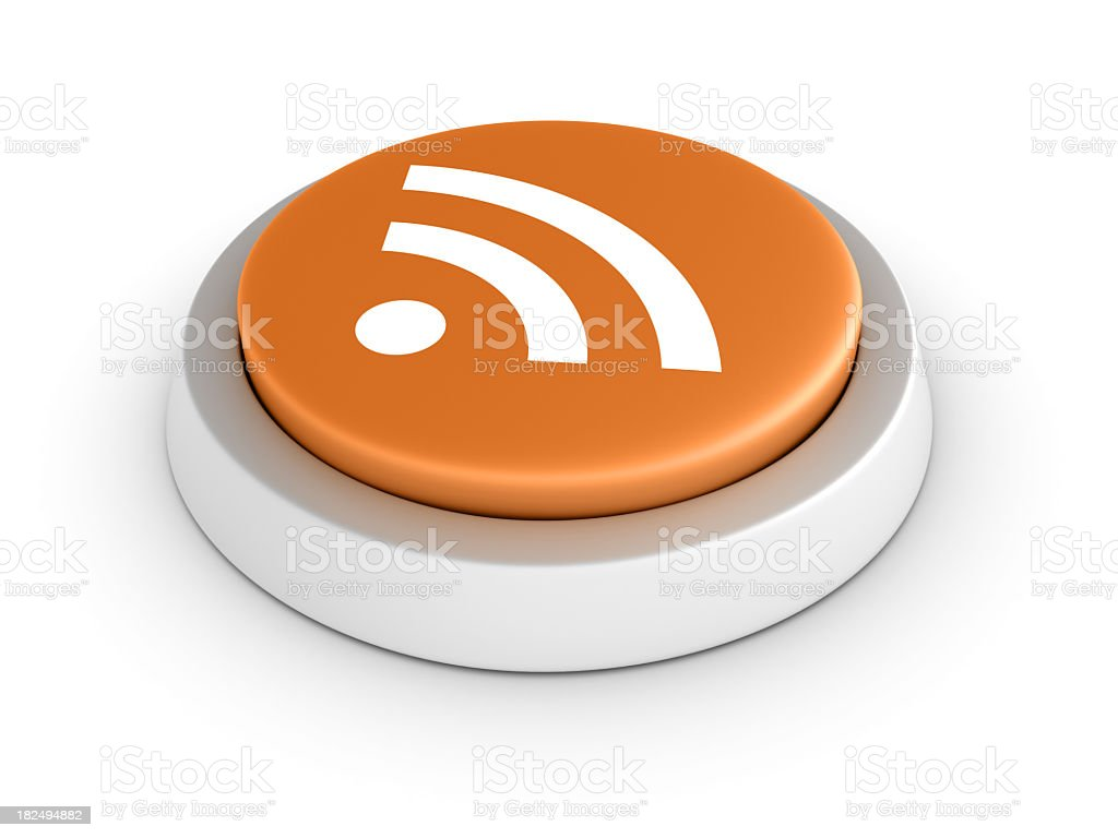 RSS Button royalty-free stock photo