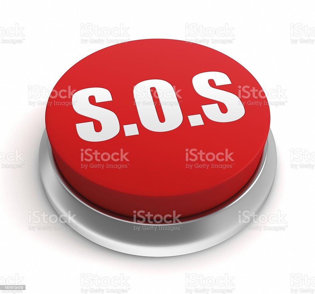 SOS Button royalty-free stock photo