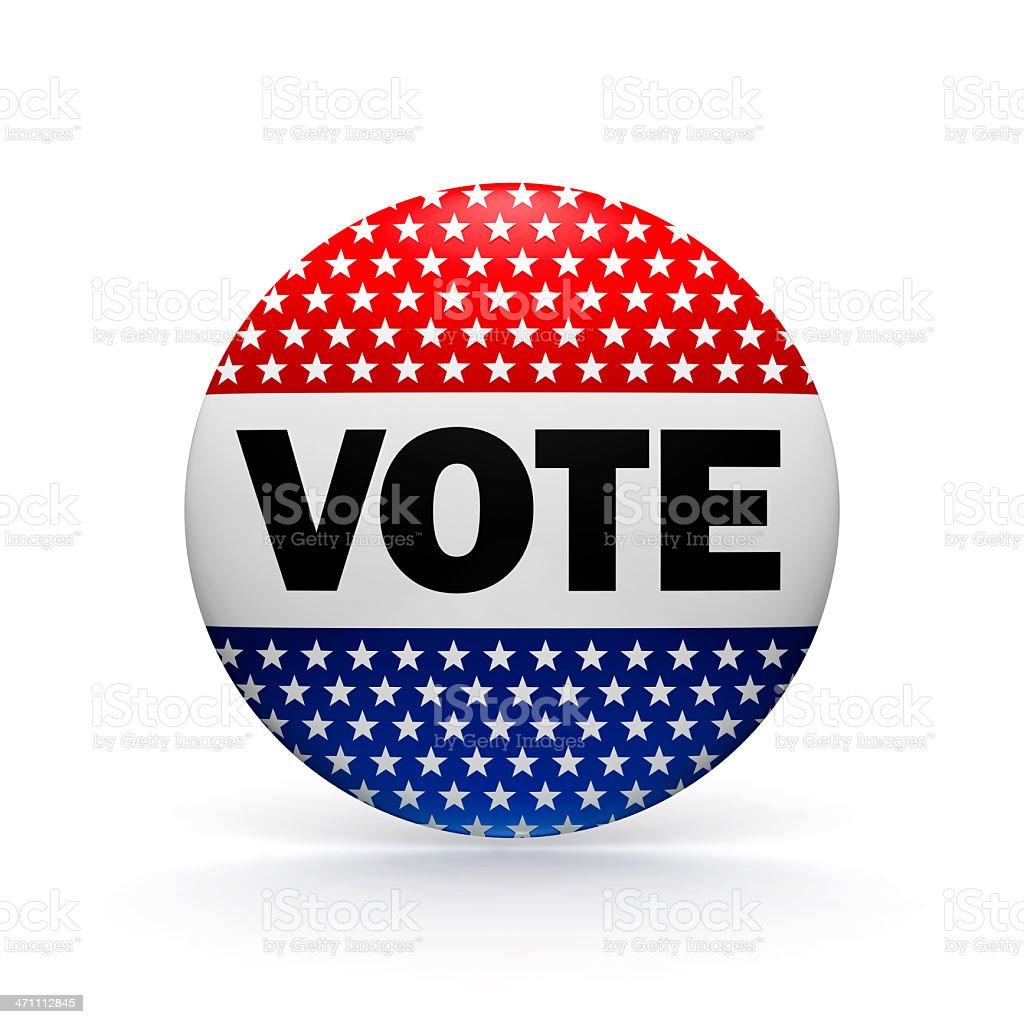 VOTE Button (XXXL) royalty-free stock photo