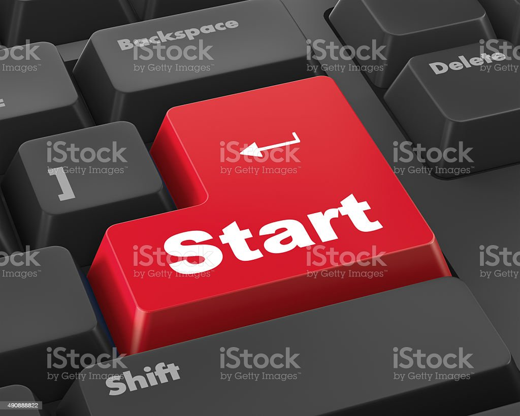 START button stock photo