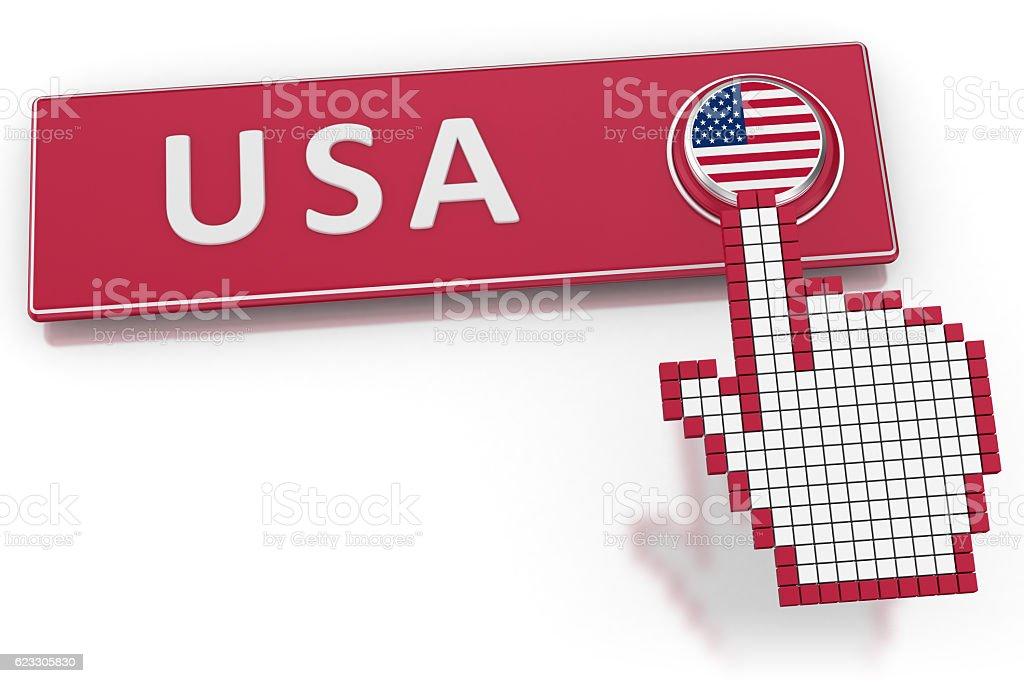 USA - Button stock photo