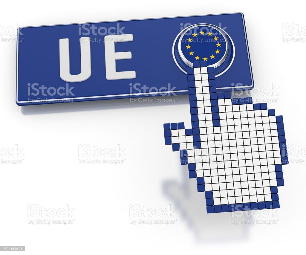 UE - Button stock photo