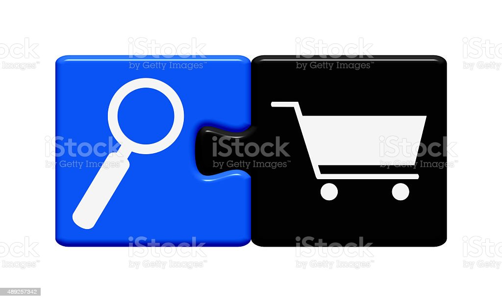 Button Puzzle search products stock photo