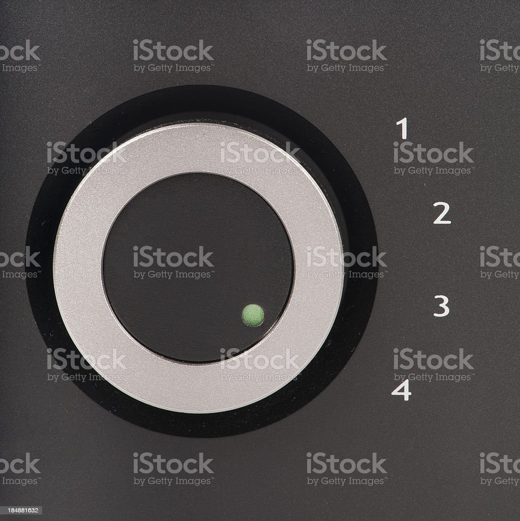 Button turned onto channel four royalty-free stock photo